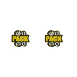 Green Bay Packers Go Pack Go Post Earrings