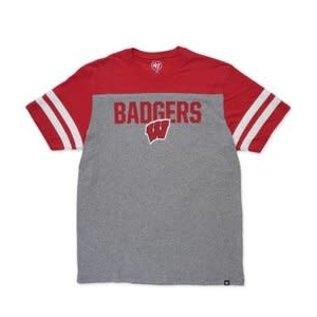 '47 Brand Wisconsin Badgers Men's Versus Club Triblend Short Sleeve Tee