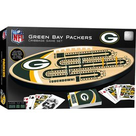 Green Bay Packers Cribbage Board Set With Playing Cards