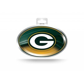 Green Bay Packers Metallic Oval Sticker