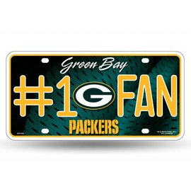 Rico Industries, Inc. Green Bay Packers #1 Fan Metal License Plate