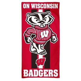 Wisconsin Badgers beach towel