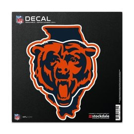 Chicago Bears 6x6 All Surface Decal - State and Bear Head
