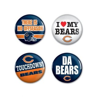 WinCraft, Inc. Chicago Bears 4 Pack Buttons