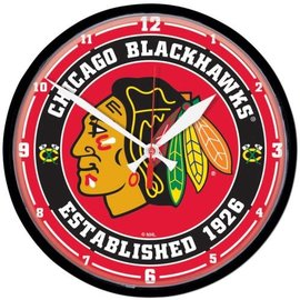 Chicago Blackhawks Round Clock