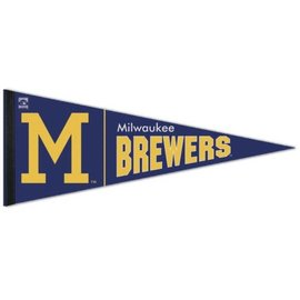 WinCraft, Inc. Milwaukee Brewers Throwback Pennant With M
