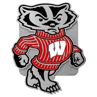 Wisconsin Badgers Metal Hitch Cover With Bucky