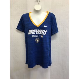 Milwaukee Brewers Women's Drytec Velocity Team Issue Short Sleeve Tee
