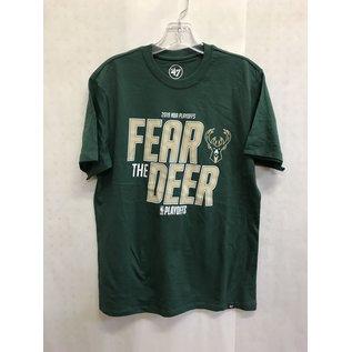 Milwaukee Bucks Men's Fear the Deer 2019 Playoffs Short Sleeve Tee
