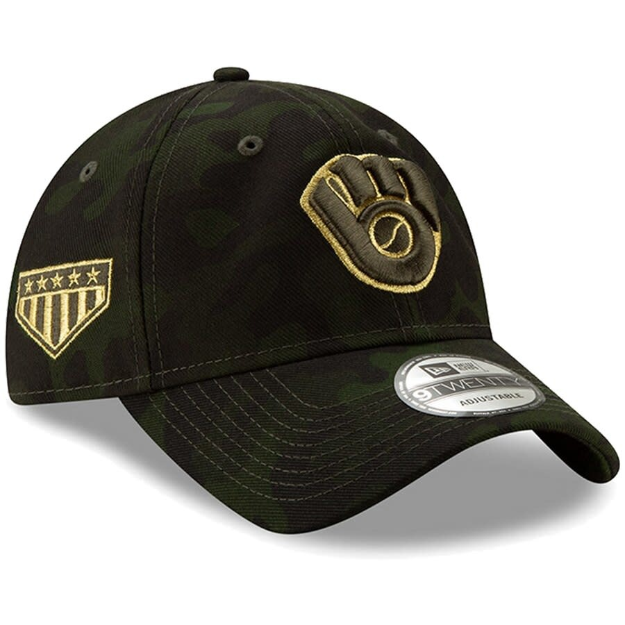 1a196514eb920e Milwaukee Brewers 9-40 2019 Armed Forces Day Adjustable Hat ...