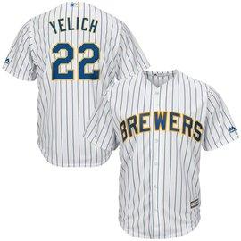 Fanatics Milwaukee Brewers Men's Yelich Pinstripe Jersey