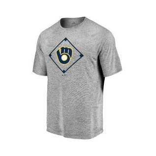 Milwaukee Brewers Men's Just Getting Started Poly Short Sleeve Tee