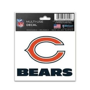 WinCraft, Inc. Chicago Bears Multi Use Decal 3x4
