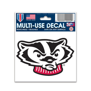 WinCraft, Inc. Wisconsin Badgers Bucky Head Decal 3x4