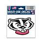 Wisconsin Badgers Bucky Head Decal 3x4