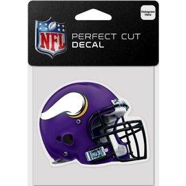 WinCraft, Inc. Minnesota Vikings 4x4 Perfect Cut Decal -Helmet
