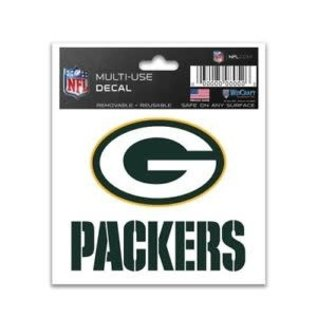 Green Bay Packers Multi Use Decal 3x4
