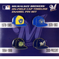 Milwaukee Brewers Cap Timeline 4 Pin Set