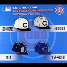Chicago Cubs Cap Timeline 4 Pin Set