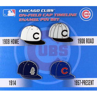 Chicago Cubs Cap Timeline 4 Pin Set