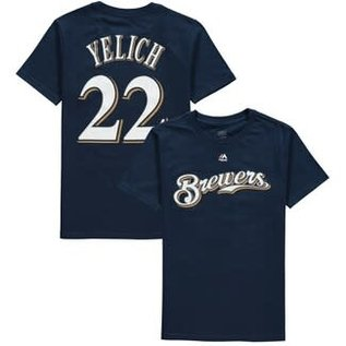 Milwaukee Brewers Yelich Youth Name & Number Short Sleeve Tee