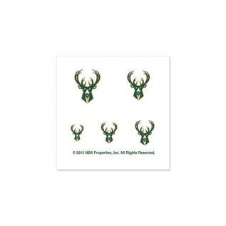 Milwaukee Bucks Fingernail Tattoos