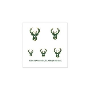 WinCraft, Inc. Milwaukee Bucks Fingernail Tattoos