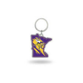 Minnesota Vikings State Shaped Keychain