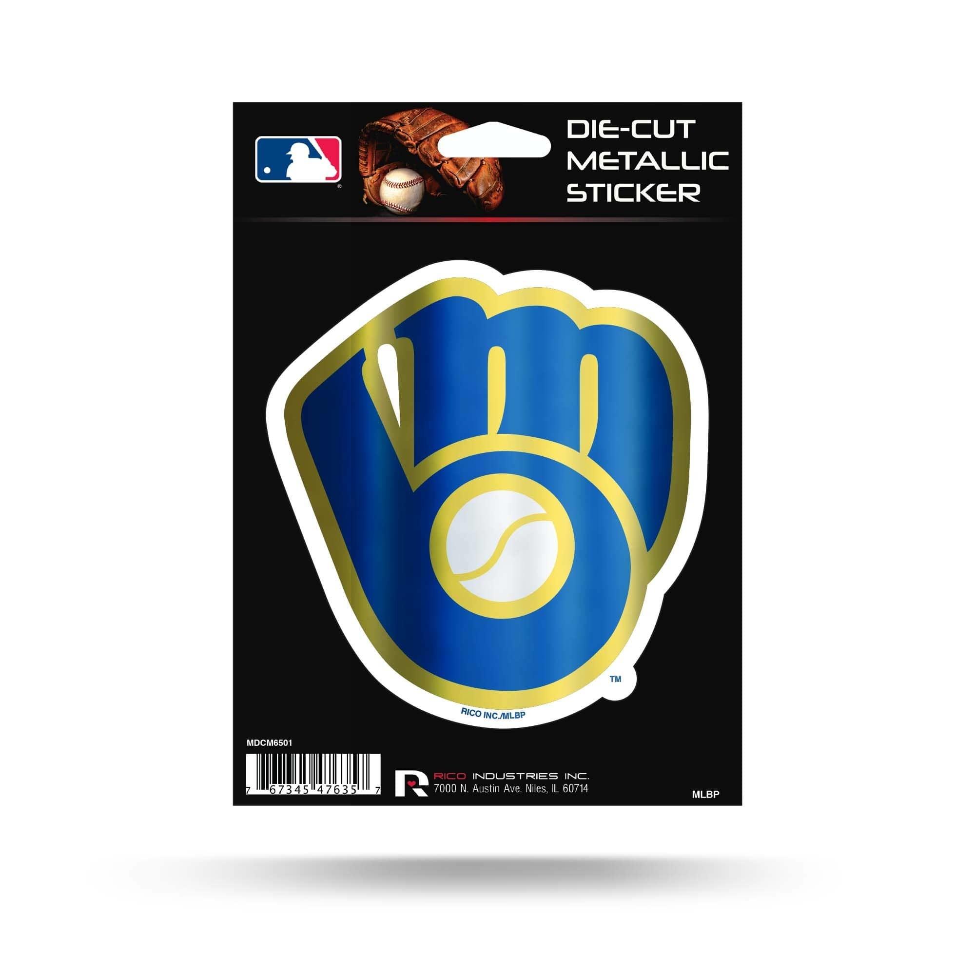 Milwaukee Brewers Diecut Metallic Sticker Packerland Plus