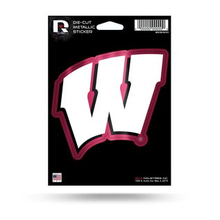 Wisconsin Badgers Diecut Metallic Sticker