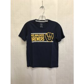 Milwaukee Brewers Youth Official Poly Short Sleeve Tee