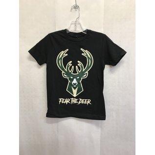 Milwaukee Bucks Youth Fear The Deer Short Sleeve Tee
