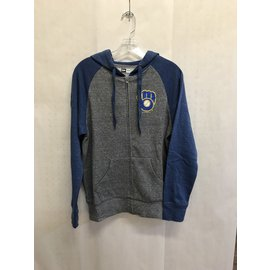 Milwaukee Brewers Women's Fleece Full Zip Hoodie