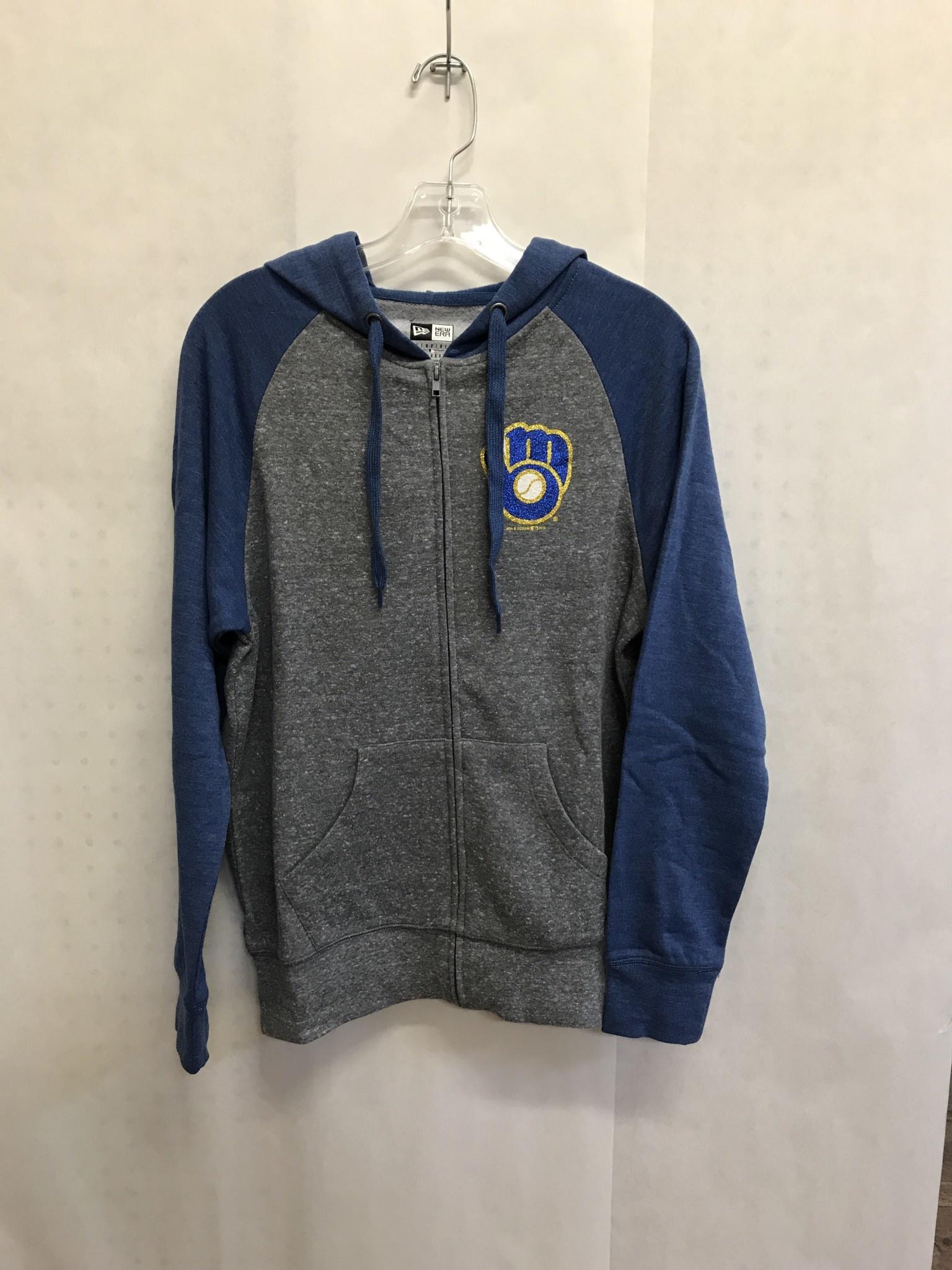 factory price 54094 d60cd Milwaukee Brewers Women's Fleece Full Zip Hoodie