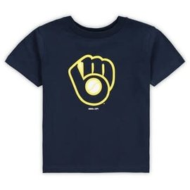 Outerstuff Milwaukee Brewers Youth Primary Logo Short Sleeve Tee