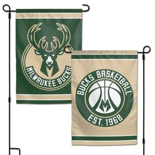 Milwaukee Bucks 2 Sided Garden Flag