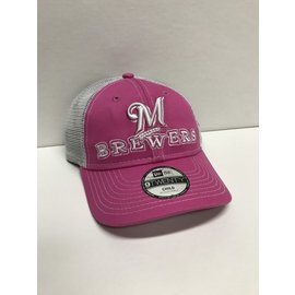 Milwaukee Brewers 9-20 Pink Cheerful Pick Youth Hat