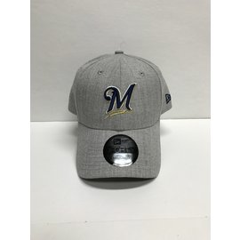 Milwaukee Brewers 9-40 Snapped Heather Adjustable Hat