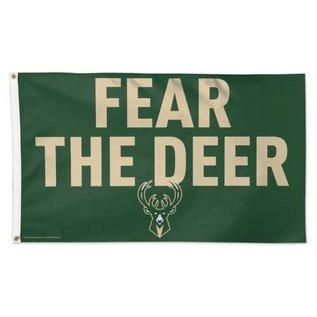 WinCraft, Inc. Milwaukee Bucks Fear The Deer 3x5 Deluxe Flag