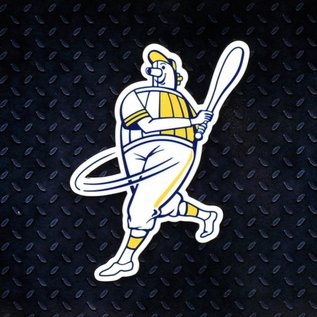 Authentic Street Signs Milwaukee Brewers Barrelman Magnet
