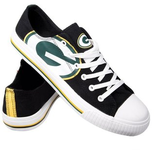 Forever Collectibles Green Bay Packers Men's Low Top Canvas Shoe