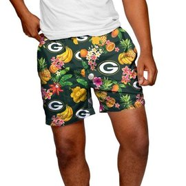 Green Bay Packers Men's Fruit Pattern Traditional Swim Trunks