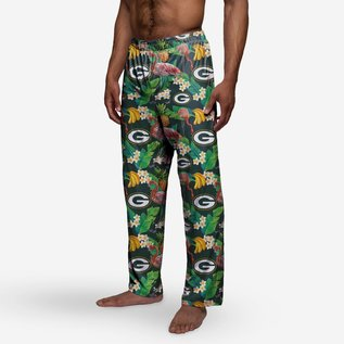Green Bay Packers Men's Floral Poly Pants