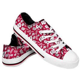 Forever Collectibles Wisconsin Badgers Women's Low Top Canvas Shoe