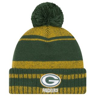 New Era Green Bay Packers Glacial Pom Knit Hat