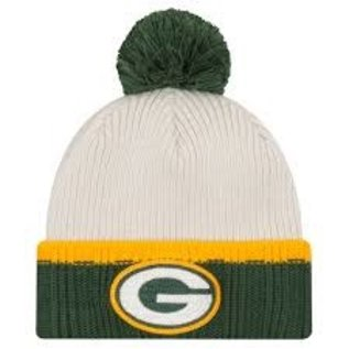 New Era Green Bay Packers Prime Team Pom Knit Hat