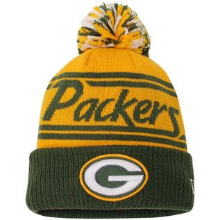 New Era Green Bay Packers Pom Fire Cuffed Knit Hat