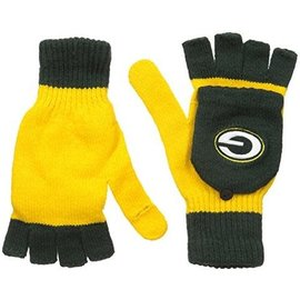 Green Bay Packers Big Logo Flip Top Gloves