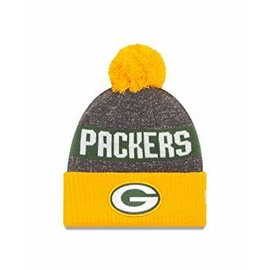 New Era Green Bay Packers 16 Reverse Sport Cuffed Knit Hat