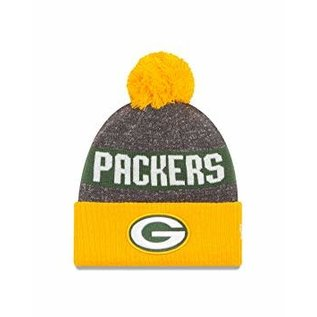 New Era Green Bay Packers 16 Reverse Sport Cuffed Knit Hat